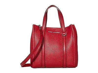 Marc Jacobs Mini Tag Tote (Cranberry) Handbags