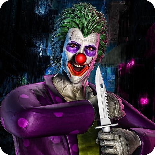 City Clown Attack Überlebens-Simulator 3D: Fünf Nächte im gruseligen Clown Attack Horror House Abenteuer Spiele Kostenlos für Kinder 2018