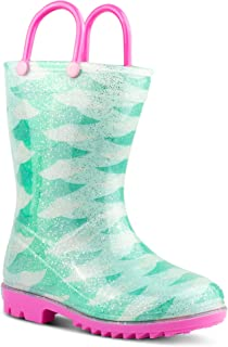 ZOOGS Printed Kids Toddler Rain Boots for Girls and Boys