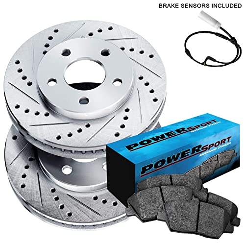 Fit Chevrolet Silverado 2500 Rear  Drill Slot Brake Rotors+Ceramic Brake Pads