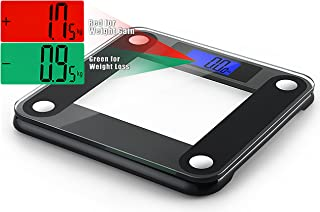 Ozeri Precision II 440 lbs (200 kg) Bath Scale with 50 gram Sensor Technology (0.1 lbs / 0.05 kg) & Weight Change Detection