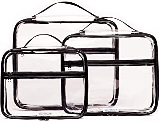 Clear Packing Cubes 3 Set - Transparent Bags for Travel - Luggage Cube Organizer