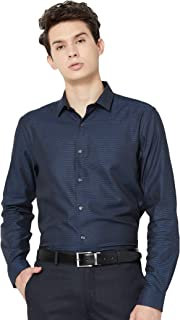 Max Men's Striped Slim Fit Formal Shirt