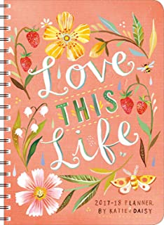 Katie Daisy 2017 – 2018 On-the-Go Weekly Planner: 17-Month Calendar with Pocket