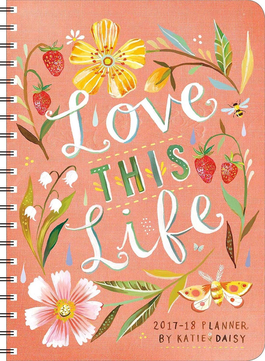 支配的カエル秋Love This Life 2017-18 Planner