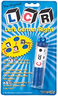 George & Company LLC LCR - Left Center Right Dice Game - Random Color
