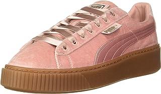 Puma Women's Basket Platform Vs WNS Silver Pink-Gold Sneakers