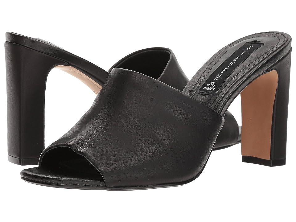 Steven Jensen (Black Leather) High Heels