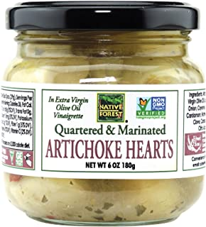 Native Forest Artichoke Hearts Marinated, 6 Ounce Jar (Pack of 6)