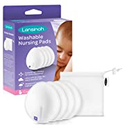 Lansinoh Washable Reusable Nursing Pads with Bamboo, 2 Pairs