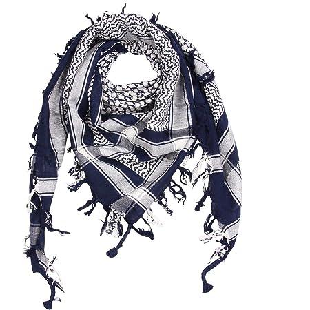 Freak Scene Foulard kefiah palestinese 100% cotone con fondo nero 100x100 cm – in tutti i colori!!!