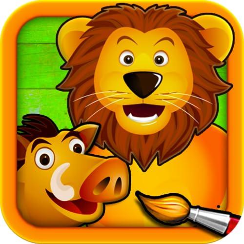 Sabana   Puzzles para Pintar   Dibujos para Colorear de los Animales para Niños