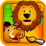 Sabana - Puzzles para Pintar - Dibujos para Colorear de los Animales para Niños