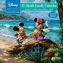 Disney Dreams Collection by Thomas Kinkade Studios: 17-Month 2020-2021 Family Wall Calendar