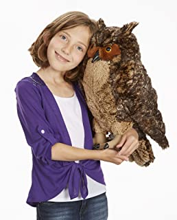 """Melissa & Doug Lifelike Plush Owl (Stuffed Animal & Plush Toy, Crafted With Care, Soft Fabric, 17"""" H x 14"""" W x 17"""" L, Great Gift for Girls and Boys - Best for 3, 4, 5 Year Olds and Up)"""