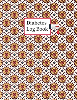 Diabetes Log Book: 2 years, Daily Target Blood Sugar Range Insulin Does Carb Phys Activity Record (Pattern Design)