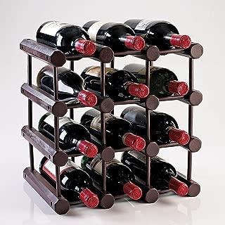 Modular 12 Bottle Wine Rack -Mahogany