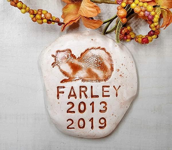 Personalized Ferret Memorial Stone