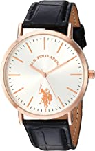 U.S. Polo Assn. Women's Analog-Quartz Watch with Leather-Synthetic Strap, Pink, 20 (Model: USC42028 )
