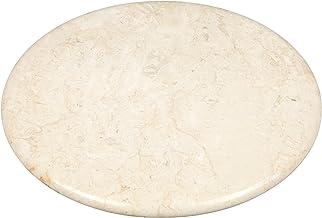 """لوح تقديم دائري بحجر الرخام الطبيعي من كريتيف هوم 32737 12"""" diam. 74489"""