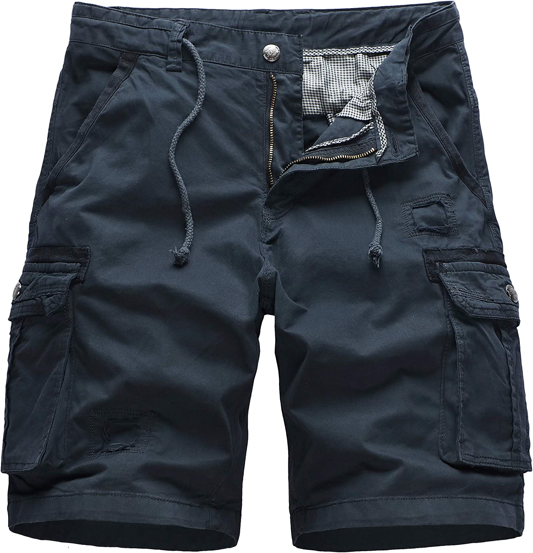 N/ A Cargo Shorts for Men,Xalutec Summer Mens Camo Cargo Shorts Relaxed Fit Multi-Pocket Outdoor Cargo Shorts Cotton
