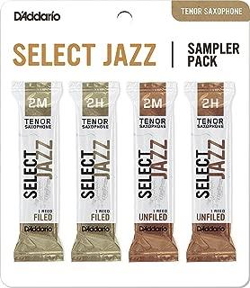 D'Addario Woodwinds D'Addario Select Jazz Tenor Saxophone Reed Sampler Pack, 2M/2H (DSJ-K2M)