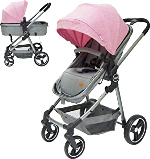 Moon Pro 2 in 1 (Convertible to Carrycot), Reversable Stroller/Pram suitable for Newborn/Infant/babies/kids from birth to ...