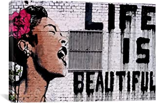 CanvasChamp Banksy Life is Beautiful Canvas Art Print Poster 40