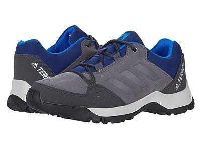 adidas Outdoor Kids Terrex Hyperhiker Low Leather (Little Kid/Big Kid) (Grey Five/Grey Five/Tech Indigo) Boy
