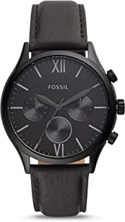 Fossil Fenmore Chronograph Men's Watch (Black Dial Black Colored Strap)