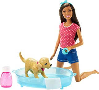 Barbie Splish Splash Pup Playset African-American
