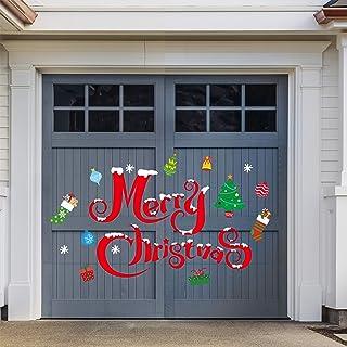 Christmas Snowman DIY Stickers Outdoor Dress Garage Door Windows Wall Home Decor
