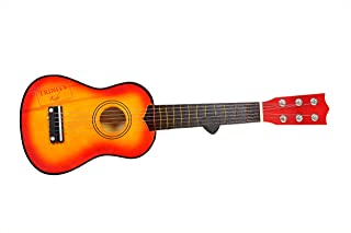 Trinity 6 Strings 21 inch Wooden Guitar Toy with Pick for 3 to 7 Years - Brown