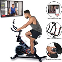 """Women's Health Men's Health"" Indoor Cycling Exercise Bike with MyCloudFitness App and Phone/Tablet Holder"