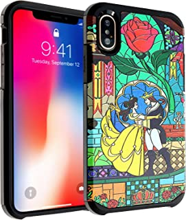 iPhone X Case, DURARMOR iPhone 10 Beauty and the Beast Dual Layer Hybrid ShockProof Slim Fit Armor Drop Protection Case Cover For iPhone X Beauty and the Beast