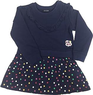 Blue Seven - Vestido de manga larga para niña con lunares y sudadera