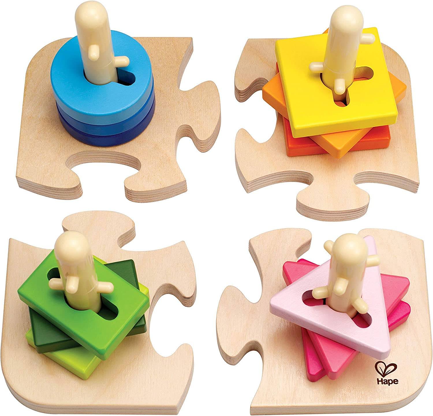 Hape Creative Toddler Wooden Ranking TOP3 Peg Puzzle Max 86% OFF W: 7.8 H: 4.6 L: