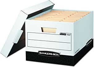 Bankers Box R-KIVE Heavy-Duty Storage Boxes, FastFod, Lift-Off Lid, Letter/Legal, Case of 12 (00724)