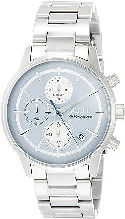 [ワイアード]WIRED 腕時計 WIRED クロノグラフ付き ライトブルー文字盤 カーブハードレックス AGAT432 メンズ