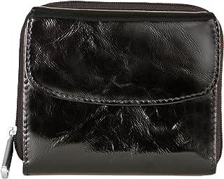 Travelon Luggage Rfid Blocking Leather Tri Fold French Wallet, Black Patent, One Size
