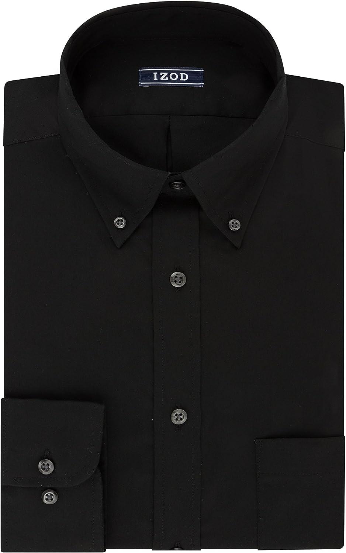 IZOD Men's Dress Dallas Mall In stock Shirt Regular Fit Stretch Button Col Down Solid