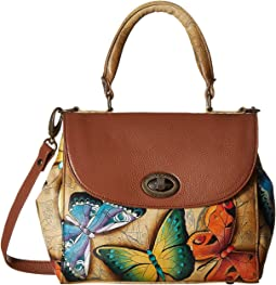 624 Medium Flap Satchel