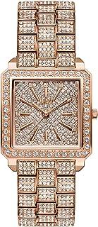 JBW Women's Cristal 0.12 Diamonds 18K Rose Gold-Plated Stainless Steel Watch J6386B