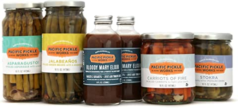 product image for Mighty Bold Bloody Mary Deluxe Kit (6 pc) - Bloody Mary mix with pickled green beans, pickled asparagus, pickled okra and pickled carrots