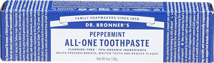 Dr Bronners, Toothpaste Peppermint All One, 1 Ounce