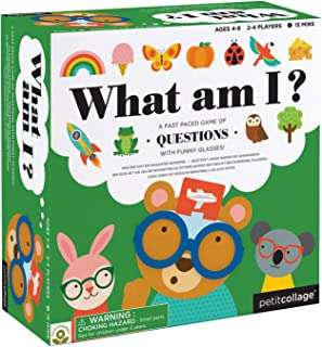 Petit Collage What am I Card Game A Family Guessing Game with Funny Glasses for All