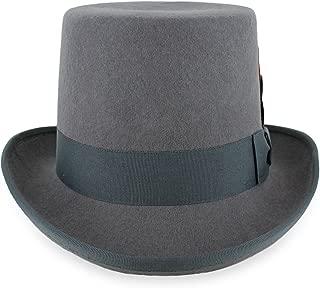 Mens Top Hat Satin Lined Topper by Belfry 100% Wool in Black Grey Navy Pearl