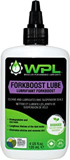 WPL ForkBoost Fork Seal Lubricant and Cleaner, Biodegradable and Bio-Based, Rubber-Compatible Dust Seal Treatment for Bicycle Forks and Shocks