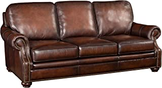 Hooker Furniture Seven Seas Leather Sofa in Sedona Chateau