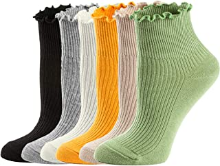 Womens Socks, Ruffle Turn-Cuff Casual Ankle Socks Summer...